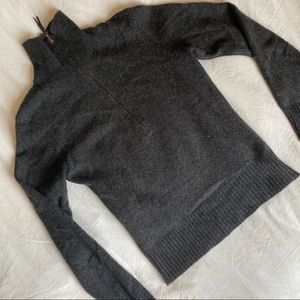 100% Cashmere theory zip neck sweater